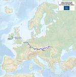 Medzinárodná diaľková turistická trasa E8, zdroj wikipédia