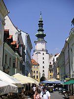 Michalská brána, zdroj wikipédia